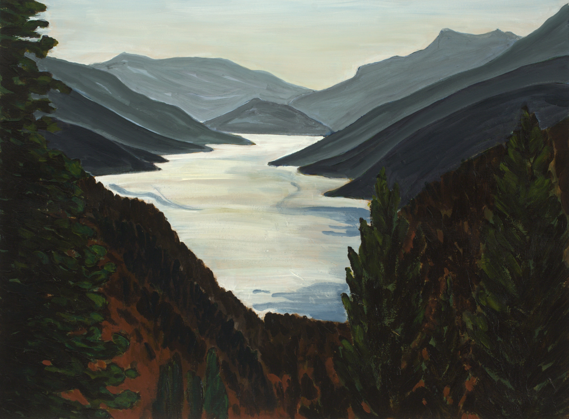 Lake Chelan-22x30 (will be about 27x35 with mat, frame & glass)